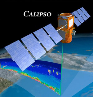 Der CALIPSO Satellit.