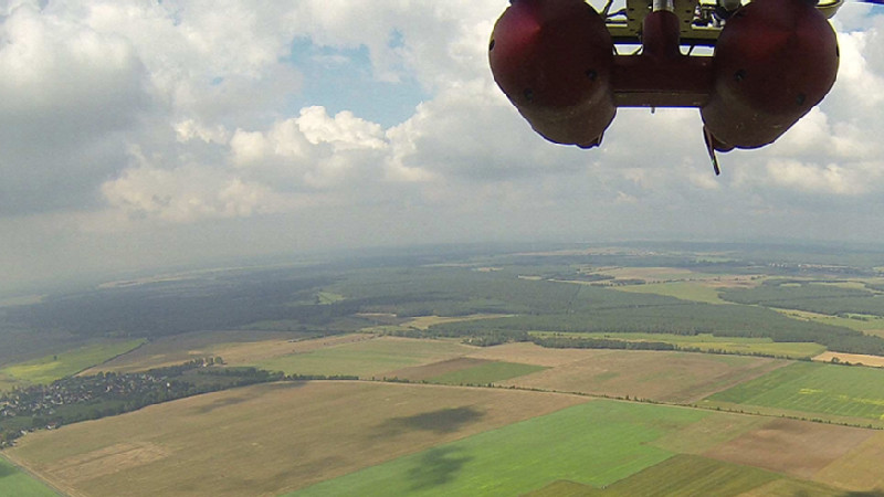 ACTOS über Melpitz aus der Luft. Foto: Holger Siebert/TROPOS