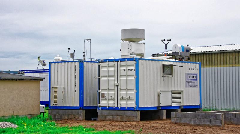 TROPOS-Container mit Fernerkundungsmesstechnik. Foto: Patric Seifert/TROPOS