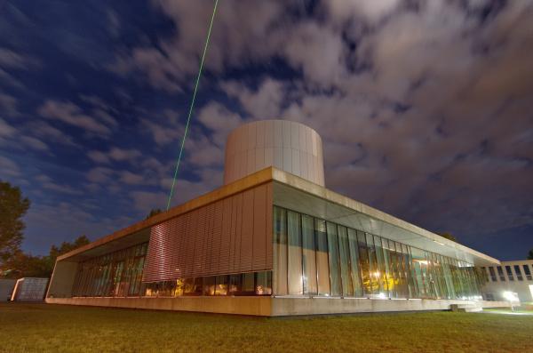 Wolkensimulator Leipzig (Aerosol Cloud Interaction Simulator/ LACIS) von außen. Foto: Tilo Arnhold/ TROPOS