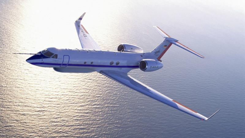 Das Höhenforschungsflugzeug HALO (High Altitude and Long Range Research Aircraft).   Quelle: DLR (CC-BY 3.0).