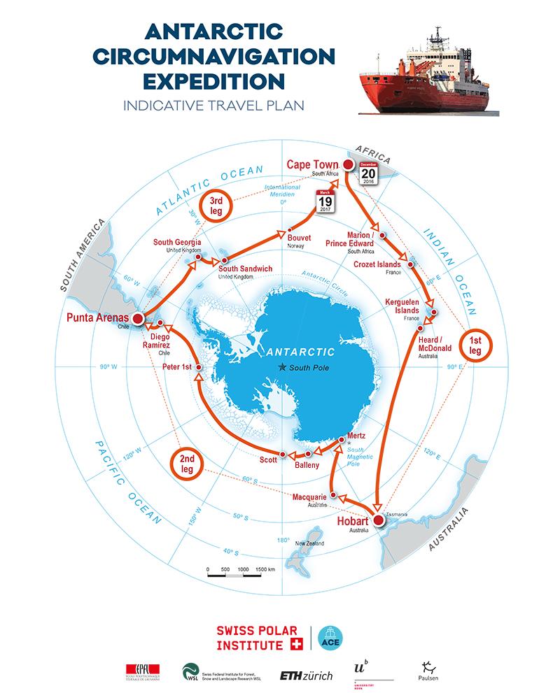 """Bei der Antarktis-Umrundung fahren drei WissenschaftlerInnen des TROPOS mit auf der """"Akademik Tryoshnikov"""",. Da die Expedition insgesamt drei Monate dauern wird, haben sich die Wolkenforscher vom TROPOS diese Aufgabe nach Ozeanen aufgeteilt. Quelle: S"""