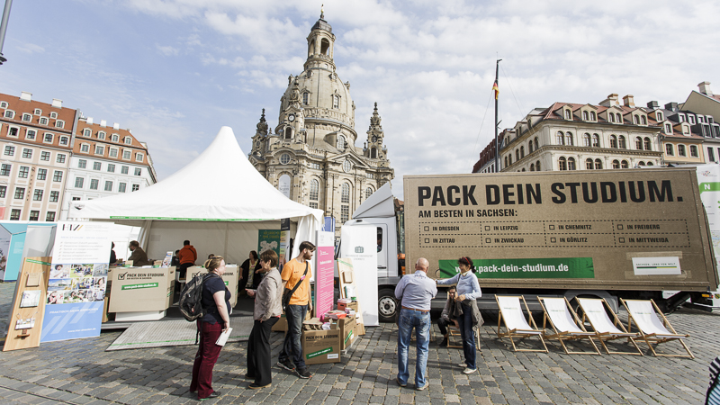 Wissenschaftsmeile in Dresden. Foto: CHRISTIAN HÜLLER FOTOGRAFIE