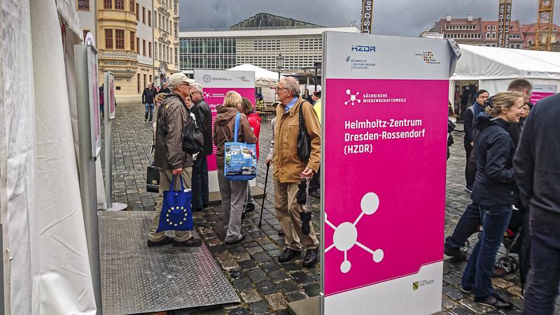 Wissenschaftsmeile: TU Dresden / HZDR. Foto: Tilo Arnhold, TROPOS
