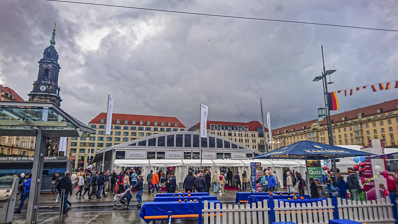 Bundeszelt auf dem Altmarkt. Foto: Tilo Arnhold, TROPOS