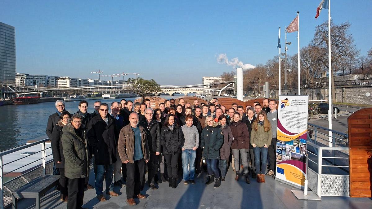 Kick-off-Meeting der EUROCHAMP-2020-Forschungsinfrastruktur im Januar 2017 in Paris. Foto: Jean-François Doussin, UPEC