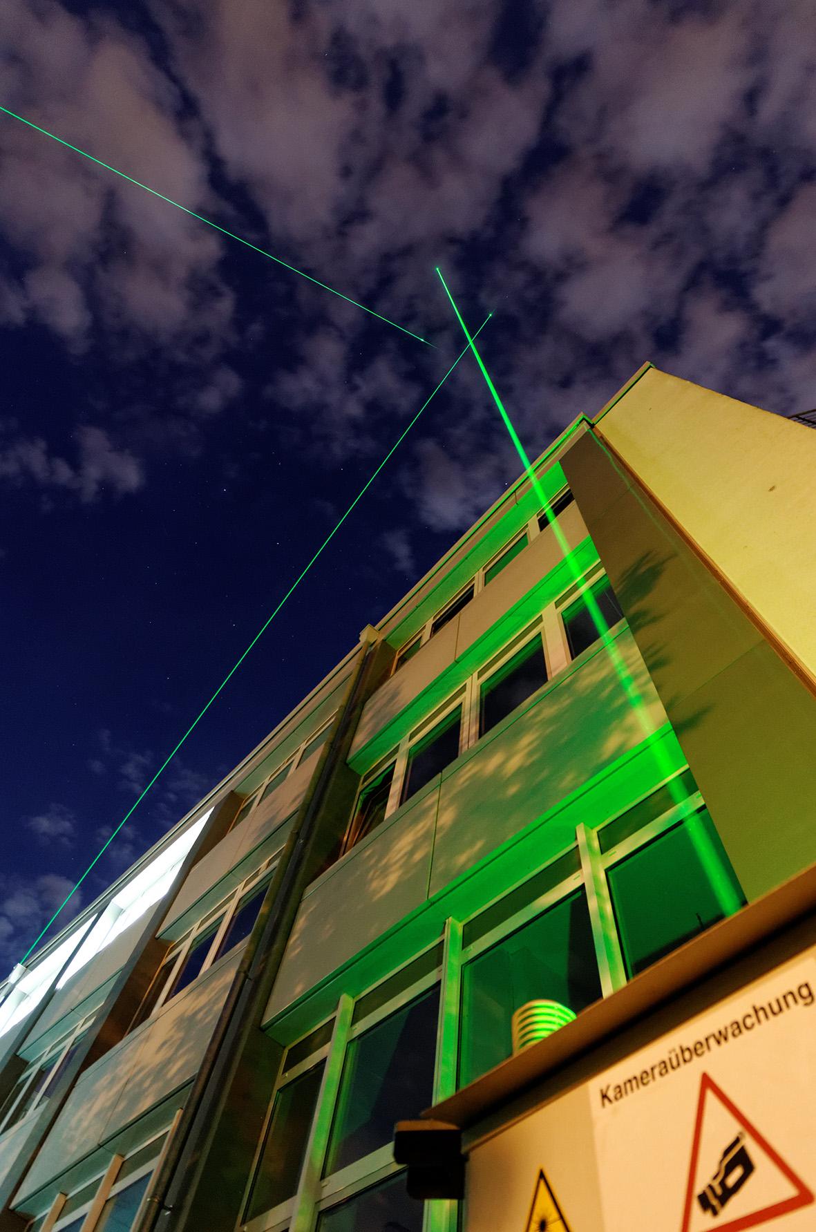 TROPOS-Lidar PolyXT in Leipzig. Foto: Tilo Arnhold, TROPOS