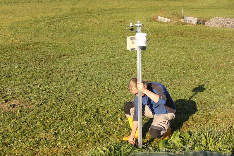 Das Pyranometernetz ist ein wichtiger Baustein, um die Schwankungen in der Sonneneinstrahlung und der erzeugten Solarenergie besser zu verstehen. Foto: Jonas Walther, TROPOS