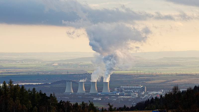 Coal-fired power plant in the Czech Republic. The combustion of fossil fuels affects both air quality and climate. Photo: Tilo Arnhold, TROPOS