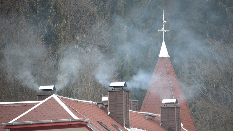 Wood heating in Germany. The increase in private wood heating systems is causing local problems with air quality and is also contributing to global climate change. Photo: Tilo Arnhold, TROPOS