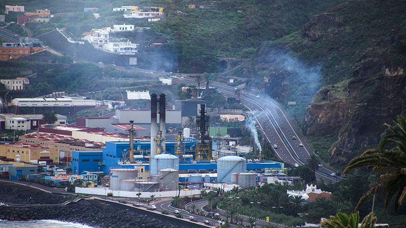 Diesel power plant on the Canary Islands. The reduction of soot emissions would contribute to health and climate protection. Photo: Tilo Arnhold, TROPOS