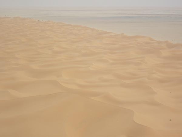 Sandbank in Mauretanien. Foto: Kerstin Schepanski, TROPOS